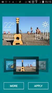 Bass weather widget/clock apk screenshot