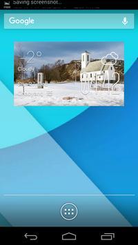 Bilbais weather widget/clock poster