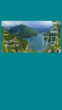 Brochet weather widget/clock poster