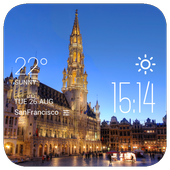 Brussels weather widget/clock icon