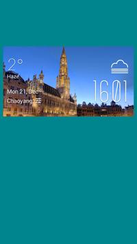 Brussels weather widget/clock poster
