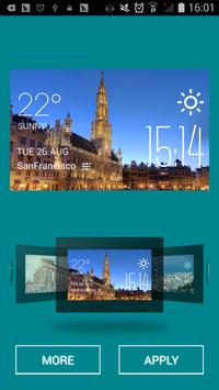 Brussels weather widget/clock screenshot 1