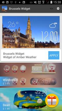 Brussels weather widget/clock screenshot 2