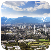 Burnaby weather widget/clock icon