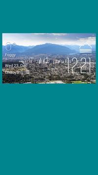 Burnaby weather widget/clock poster