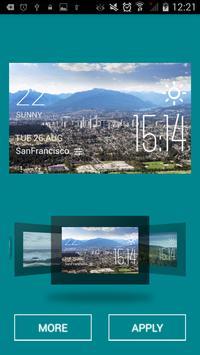 Burnaby weather widget/clock apk screenshot