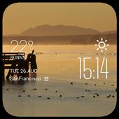 Courtenay weather widget/clock icon