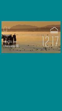 Courtenay weather widget/clock poster