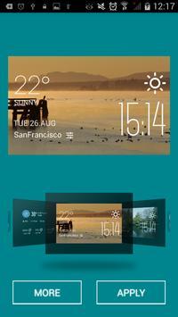 Courtenay weather widget/clock apk screenshot