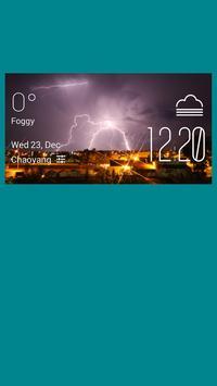 Dawson Creek weather widget poster