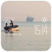 Durres weather widget/clock icon