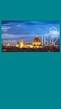 Florence weather widget/clock poster
