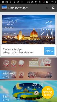 Florence weather widget/clock apk screenshot