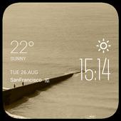 Ghisa weather widget/clock icon
