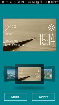 Ghisa weather widget/clock apk screenshot