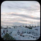 Hurghada weather widget/clock icon