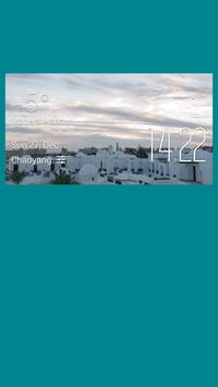Hurghada weather widget/clock poster