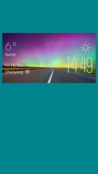 Izhevsk weather widget/clock poster