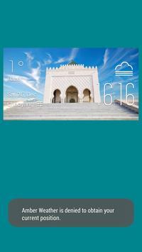 Kenitra weather widget/clock poster