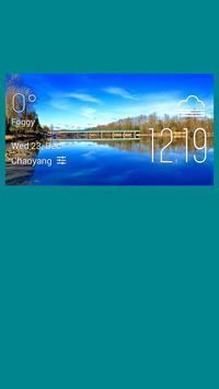 Kimberley weather widget/clock poster