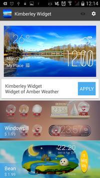 Kimberley weather widget/clock screenshot 2