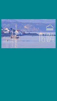Kristiansand weather widget poster