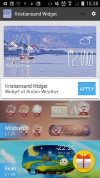 Kristiansand weather widget apk screenshot