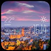 Malaga weather widget/clock icon