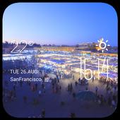 Marrakech weather widget/clock icon