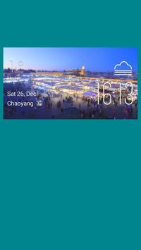 Marrakech weather widget/clock poster