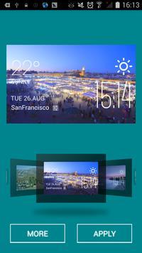 Marrakech weather widget/clock apk screenshot