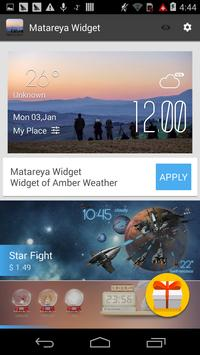 Matareya weather widget/clock apk screenshot