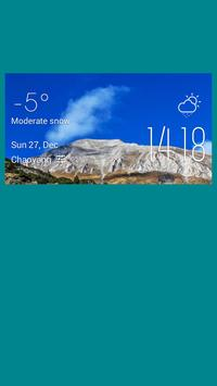 Minya weather widget/clock poster