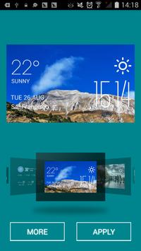 Minya weather widget/clock screenshot 1