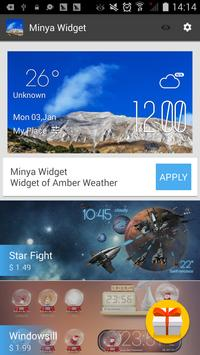 Minya weather widget/clock screenshot 2