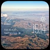 Nelspruit weather widget/clock icon
