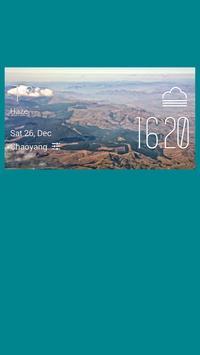 Nelspruit weather widget/clock poster