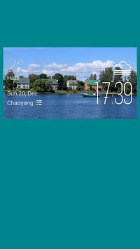 Parnu weather widget/clock poster