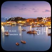Piraeus weather widget/clock icon