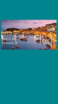 Piraeus weather widget/clock poster