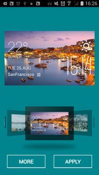 Piraeus weather widget/clock apk screenshot
