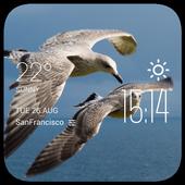 Rabat weather widget/clock icon