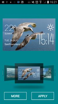 Rabat weather widget/clock apk screenshot