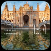 Sevilla weather widget/clock icon