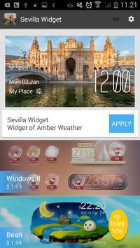 Sevilla weather widget/clock apk screenshot