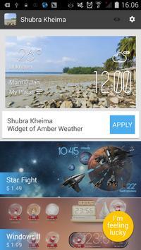Shubra Kheima weather widget apk screenshot