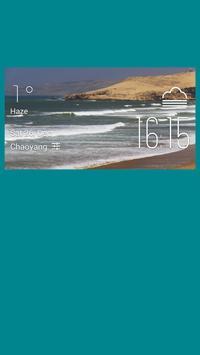 Tangier weather widget/clock poster
