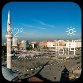 Tirana weather widget/clock icon