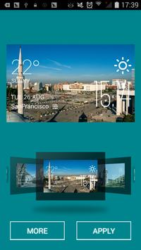 Tirana weather widget/clock apk screenshot