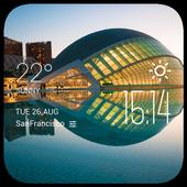 Valencia weather widget/clock icon
